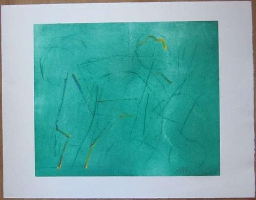 Zangs, HerbertFarbradierung. Mit Acrylfarbe überarbeitet. Unten rechts in der Abbildung mit Bleistift signiert. 55 x 66 cm (Blattgröße 70 x 90 cm)