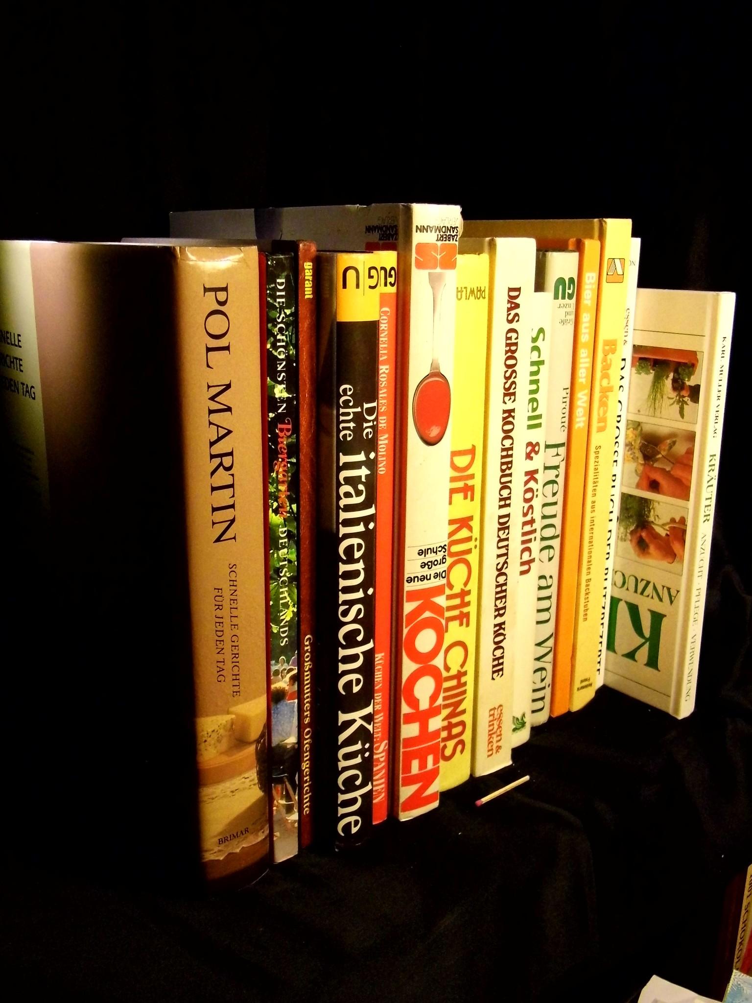 Sammlung) Kochen, Backen, Trinken, Ernährung, Kochbücher (28 Bücher) -